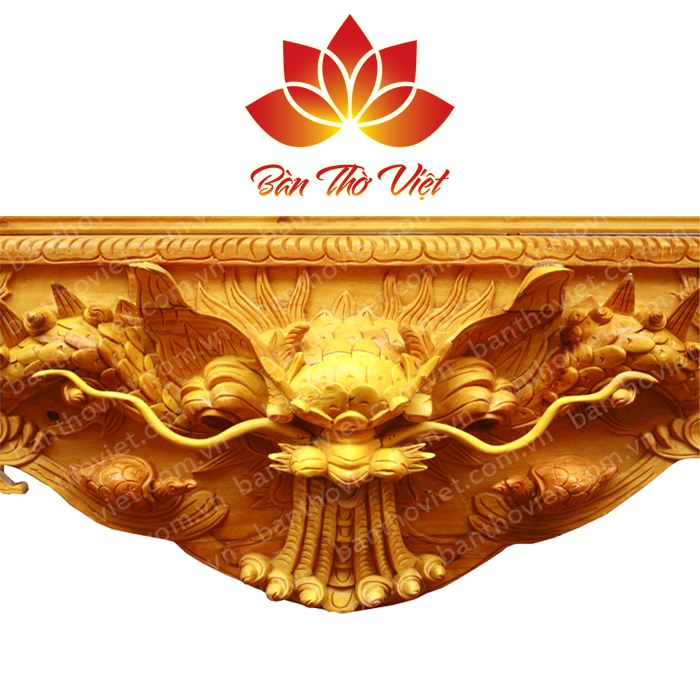 Những mẫu sập thờ chạm thủ công đẹp ấn tinh sảo tại Hà Nội