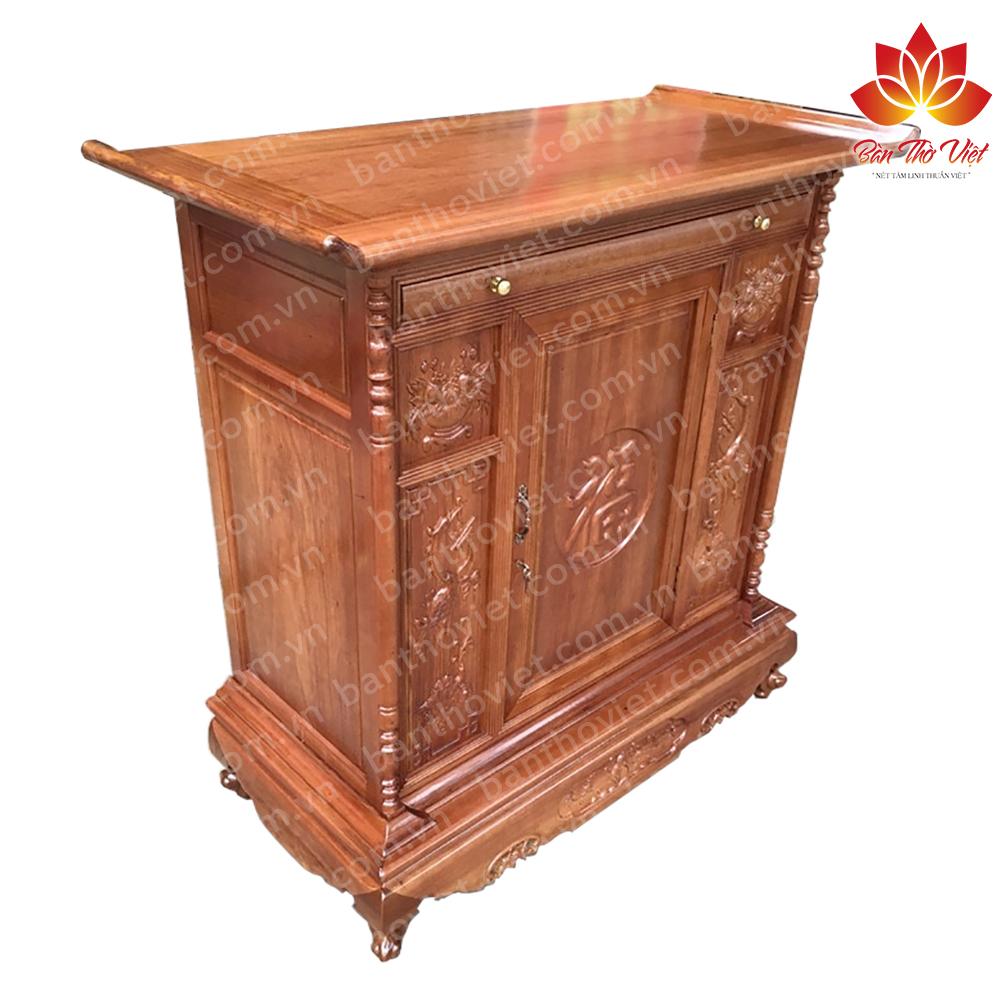 Mẫu tủ thờ gỗ dổi hiện đại và sang trọng nhất