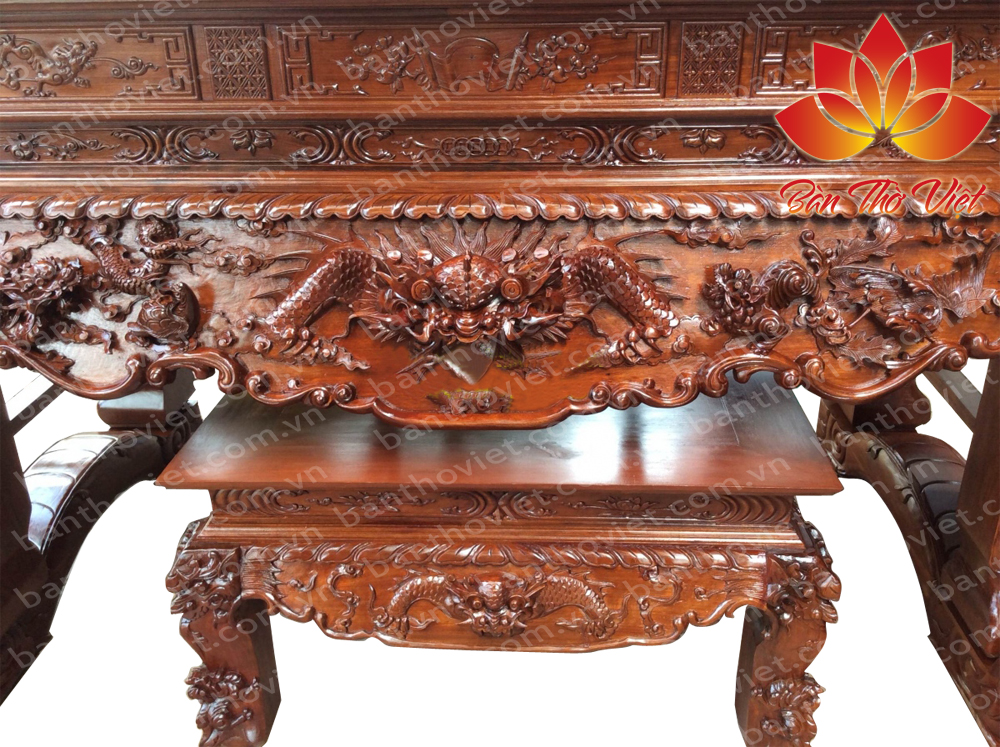Những mẫu sập thờ tứ linh đẹp được nhiều gia đình Việt lựa chọn