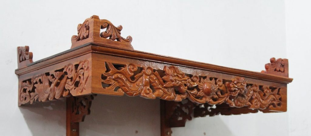 Ưu điểm nổi bật của bàn thờ treo gỗ mít không phải ai cũng biết