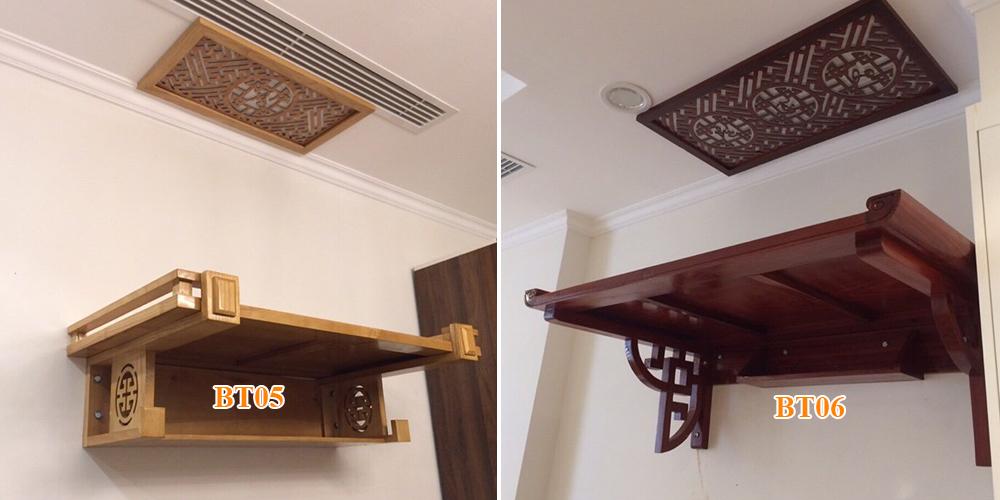 """7 mẫu bàn thờ treo tường có mái """"Đẹp Mê Hồn"""" cho chung cư"""