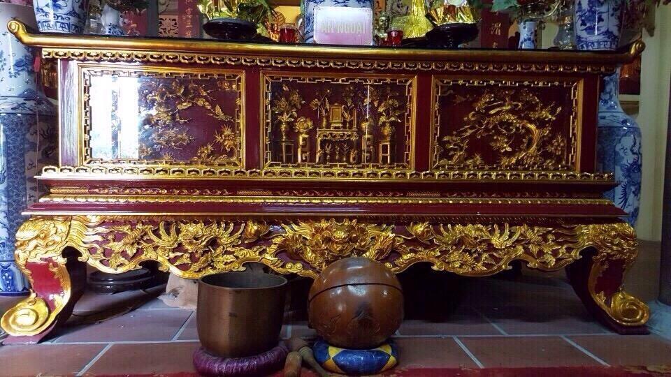 Những mẫu sập thờ sơn son thếp vàng đẹp lung linh