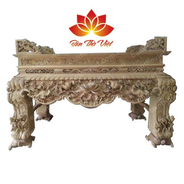 Những mẫu Sập thờ chân rùa gỗ gụ - Nội Thất Bàn Thờ Việt
