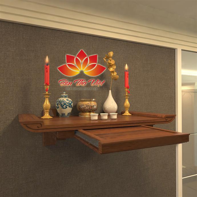 Bàn thờ 2 tầng được treo ở nơi thoáng và sạch sẽ nhất trong gia đình, đảm bảo tính chất thanh tịnh và tôn nghiêm